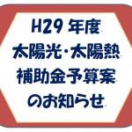 H29補助金予算案