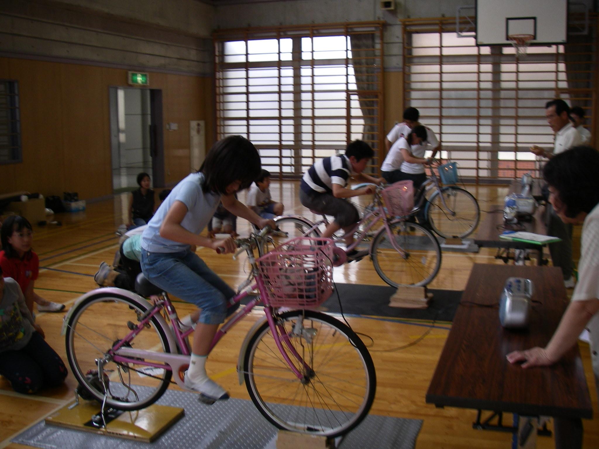 自転車の 発電 自転車 : 自転車発電にチャレンジ!)